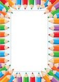 Pencils card. Illustration of a pencils card Stock Photos