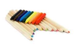 Pencils and Chalks Royalty Free Stock Photography