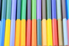Pencils for children in different Royalty Free Stock Photo