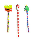 Pencils Christmas royalty free stock photos