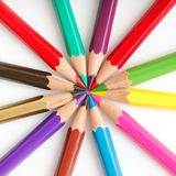 Pencils circle Royalty Free Stock Photo