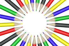 Pencils in circle Royalty Free Stock Photos