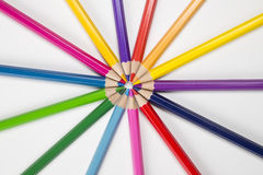 Pencils  in a circle Royalty Free Stock Photo