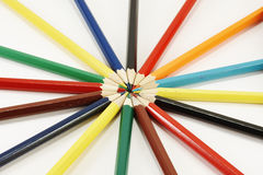 Pencils on a circle Royalty Free Stock Photography