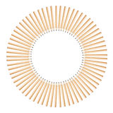 Pencils circle. Installation of wood pencils in circle shape Royalty Free Stock Photography