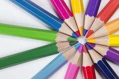 Pencils in a circle shape Stock Photography