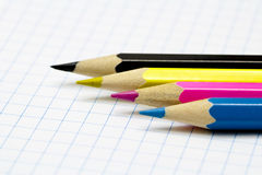Pencils. CMYK Royalty Free Stock Images