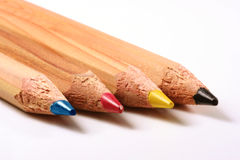 Pencils cmyk. Pencils: cyan magenta yellow black royalty free stock photo