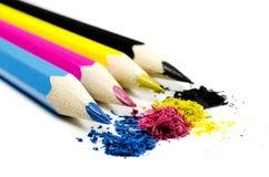 Pencils CMYK Stock Image