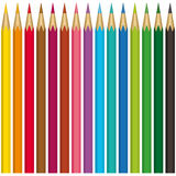 Pencils collection Stock Photo