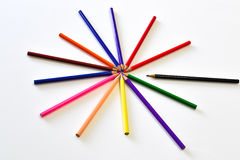 The pencils color like star shape Stock Photography
