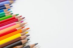 Pencils color on white background , pencils color group Royalty Free Stock Photo
