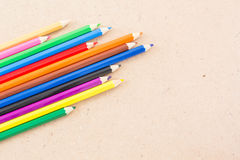 Pencils Color on wooden Stock Images