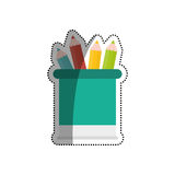 Pencils colored on vase Royalty Free Stock Photography