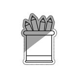 Pencils colored on vase Royalty Free Stock Image
