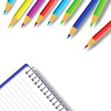 Pencils. Colorful illustration with set of pencils on a white background stock illustration