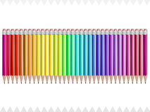 Pencils colors of the rainbow Royalty Free Stock Photo