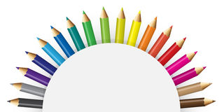 Pencils colour with semicircular concept Royalty Free Stock Photos