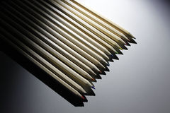 Pencils of colours. Over a table Stock Photo