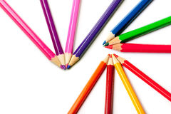Pencils or crayons Stock Photography