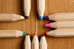 Pencils in cross formation Stock Images