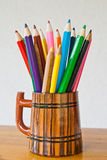 Pencils in a cup Stock Image
