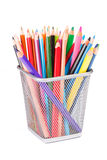 Pencils. In a Cup Holder Stock Image