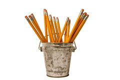 Pencils in a cup holder Stock Photo