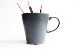 Pencils in a Cup Stock Photography