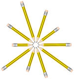 The pencils. 3d generated picture of a pencil circle Royalty Free Stock Photos