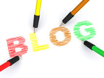 Pencils depicting text blog Stock Images