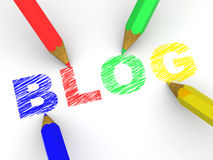 Pencils depicting text blog Stock Image