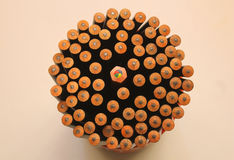 Pencils on the desk Royalty Free Stock Photo