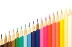 Pencils and diagonal. Stock Photo