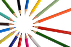 Pencils with different color Royalty Free Stock Photos