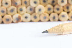 Pencils with different color over white background. Royalty Free Stock Image