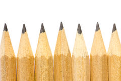 Pencils with different color over white background. Stock Photos