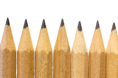 Pencils with different color over white background. Royalty Free Stock Photos