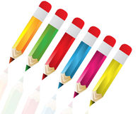 Pencils with  different color. Vector illustration of pencils with  different color Stock Photography