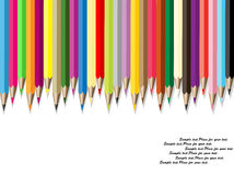 Pencils with  different color. Vector illustration of different color pencils Stock Photo