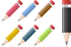 Pencils in different colors Royalty Free Stock Photos