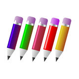 Pencils in different colors Royalty Free Stock Image