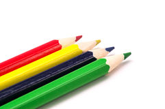 Pencils of different colors close-up Stock Images