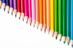 Multicolored pencils. Pencils of different colors for drawing Royalty Free Stock Image