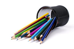 Pencils of different colors Royalty Free Stock Images