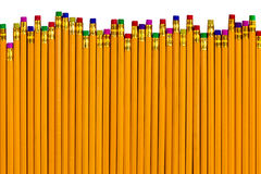 Pencils at different heights for various errors Royalty Free Stock Photo