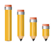 Pencils of different size Royalty Free Stock Photography