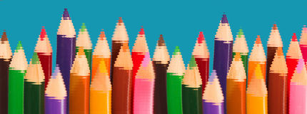 Pencils - diversity and sameness. A world of diversity and sameness  - symbolic content Royalty Free Stock Photography