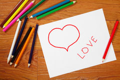 Pencils and drawing Royalty Free Stock Images