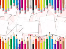 Pencils Education Shows Colourful Learn And Colour Stock Photo